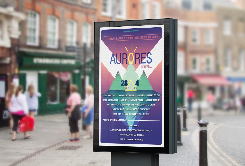 Affiche Aurores Montréal 2019