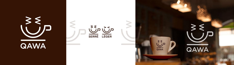 Qawa est un Logotype pour une enseigne de cofee shop